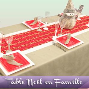 Décoration de table Noël / Nouvel an : un réveillon en famille !