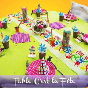 Décoration de table anniversaire d'enfant