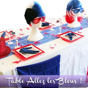 Décoration de table bleu blanc rouge