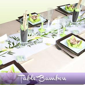 Décoration de table bambou