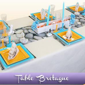 Décoration de table Vacances en Bretagne