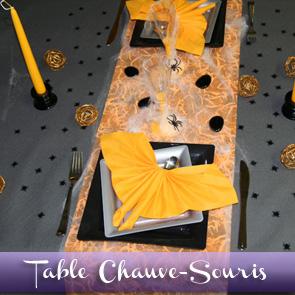 Décoration de table pour Halloween