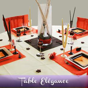 Décoration de table orange, chocolat et ivoire