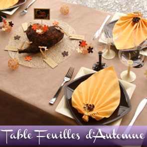 Décoration de table safran chocolat mandarine