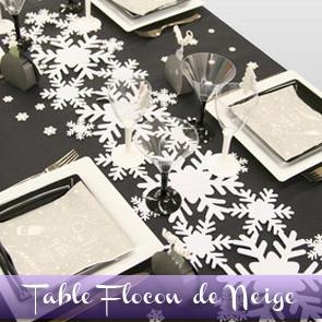 Décoration de table Noël, flocons de neige
