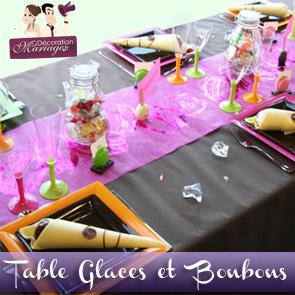 Décoration de table : mariage gourmand