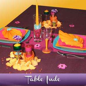 Décoration de table sur le thème de l'Inde