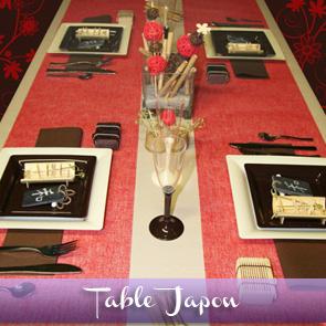 Décoration de table ivoire, rouge et chocolat