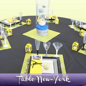 Décoration de table sur le thème de New-York