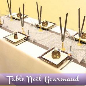 Décoration de table réveillon - chocolat, argent et or