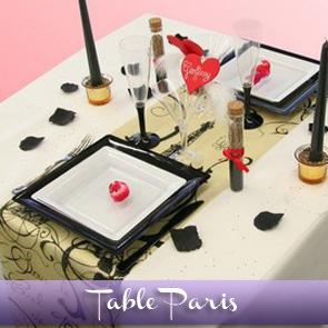 Décoration de table sur le thème de Paris