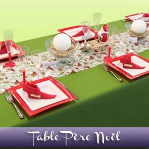 Décoration de table Noël, tradition