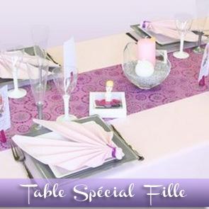 Décoration de table de communion pour fille