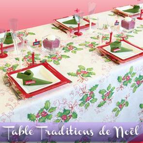 Décoration de table Noël, feuilles de houx