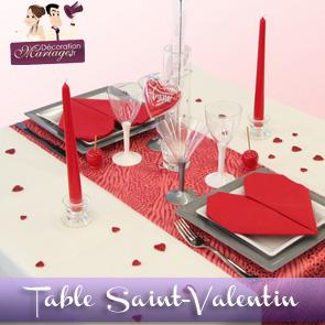 Une table spécial Saint-Valentin !
