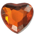 Petits coeurs en diamant, orange