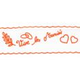 Rouleau de tulle Vive les mariés, orange