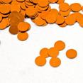 Sachet de confettis de table, pastilles rondes, orange