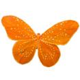 Papillon sur pince 30 x 30cm, orange