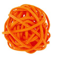 Boules en rotin orange