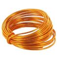 Bobine de fil métal, 5m, orange