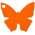 Marque-places en carton, papillon, orange