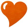 Sets de table cœur, orange