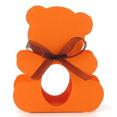 Contenant à dragées nounours, orange