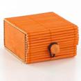 Boîtes à secrets en bambou, orange