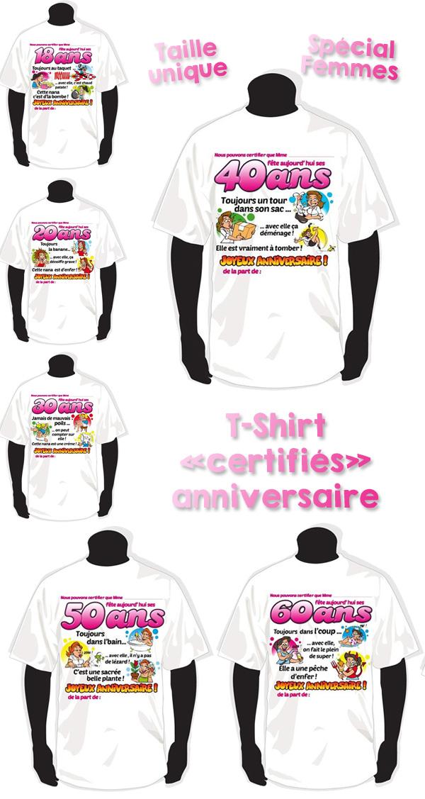 De nouveaux t-shirts certifiés pour les femmes