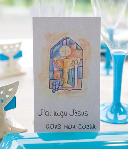 Carton avec inscription religieuse