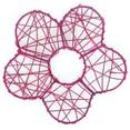 Sachet de 4 fleurs en métal Ø 8 cm, fuchsia