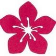 Hibiscus en feutrine, fuchsia