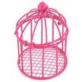 Cage à oiseaux miniature, fuchsia