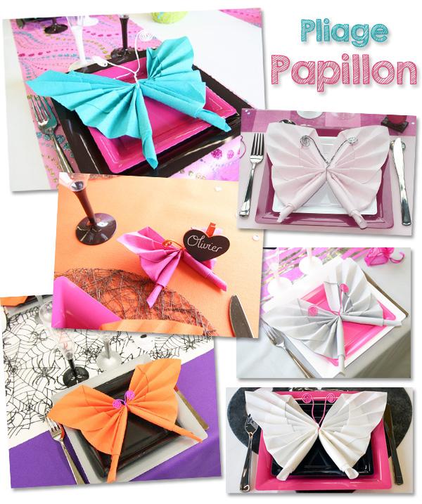 Notre pliage de serviette en forme de papillon !