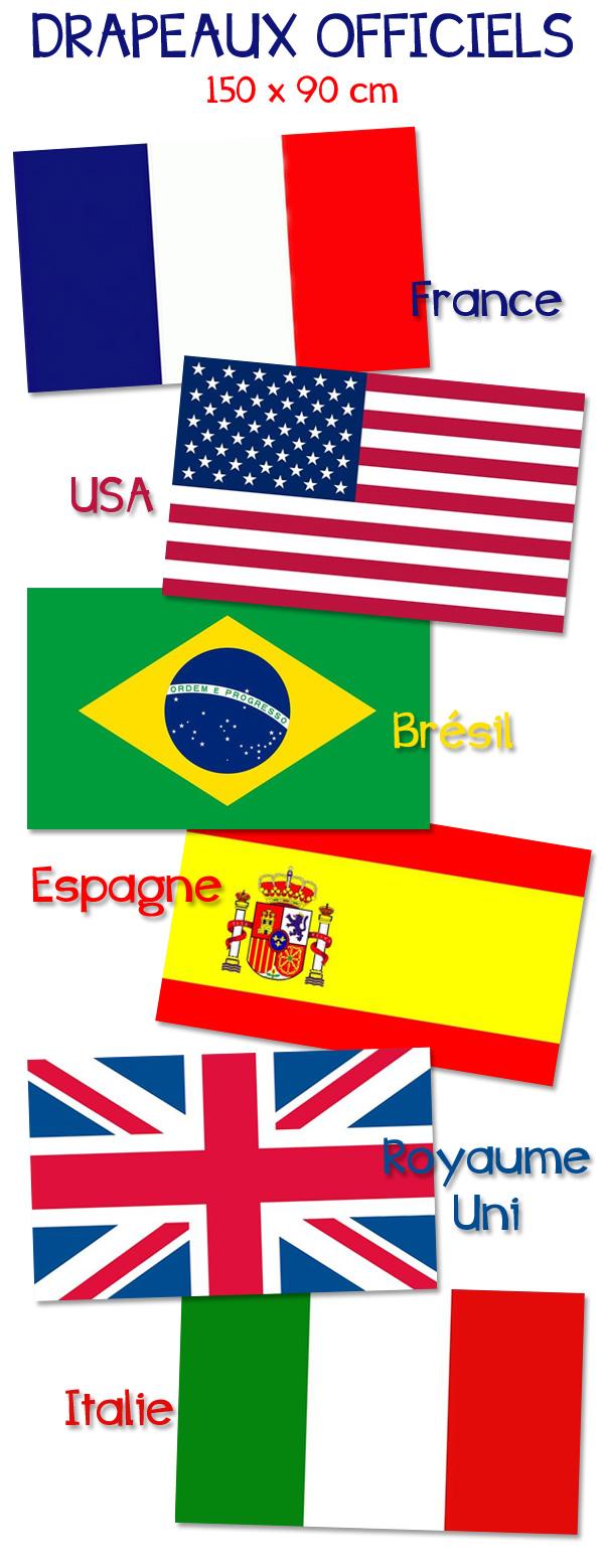 Bientôt la Coupe du Monde : voici nos drapeaux !