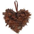 Coeur en plumes petit modèle, chocolat