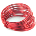 Bobine de fil métal, 5m, rouge
