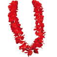 Collier de fleurs de bienvenue Hawaii, rouge