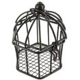 Cage à oiseaux miniature, chocolat