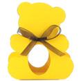 Contenant à dragées nounours, jaune