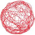Boîte de 6 boules métal Ø 6 cm, rouge