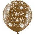 Ballon géant, Vive les mariés, métal chocolat
