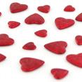 Sachet de coeurs 3D, rouge