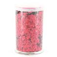 Pot de paillettes holographiques, rouge