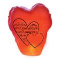 Lanterne thailandaise, coeur, rouge