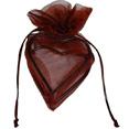 Sachets organdi coeur armuré chocolat