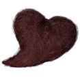 Coussin coeur en sisal chocolat