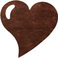 Sets de table cœur, chocolat