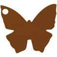 Marque-places en carton, papillon, chocolat